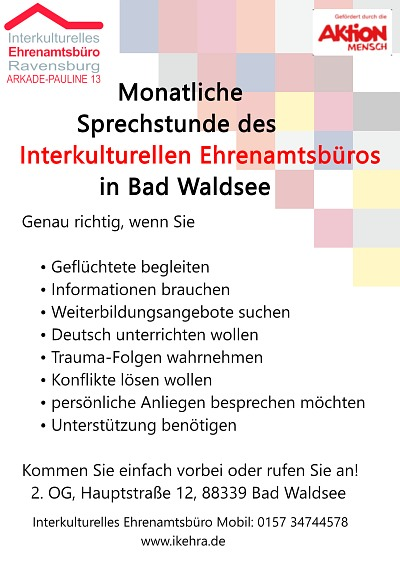 Flyer Sprechstunde in Bad Waldsee